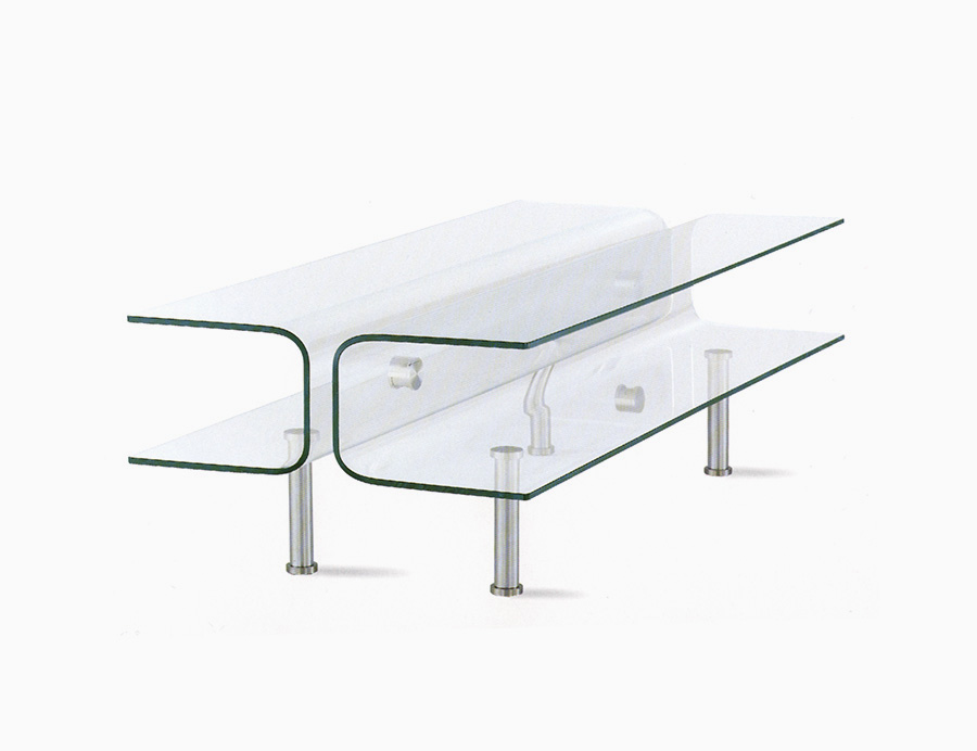Cove Bent Glass Coffee Table