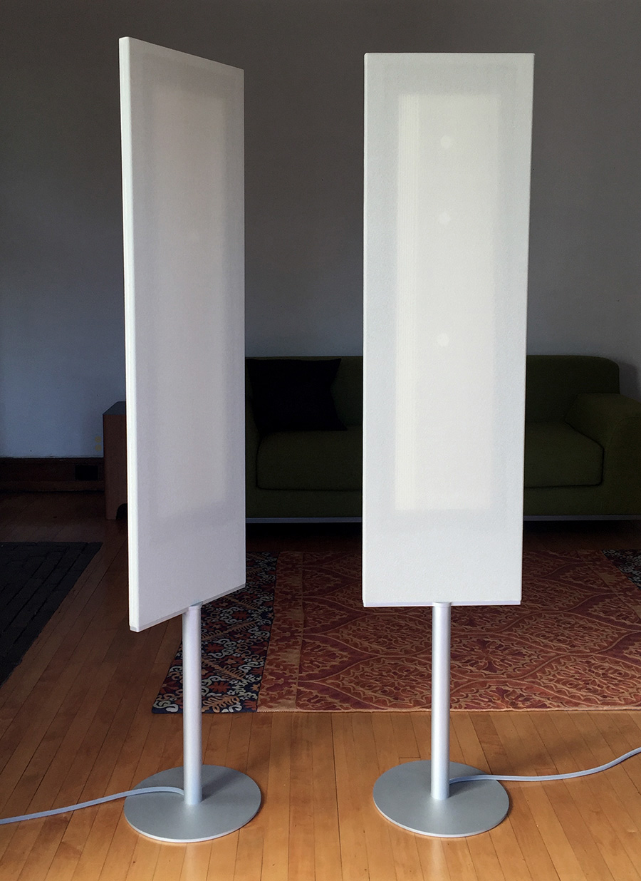 Pedestal Mounted Flat Panel Speakers