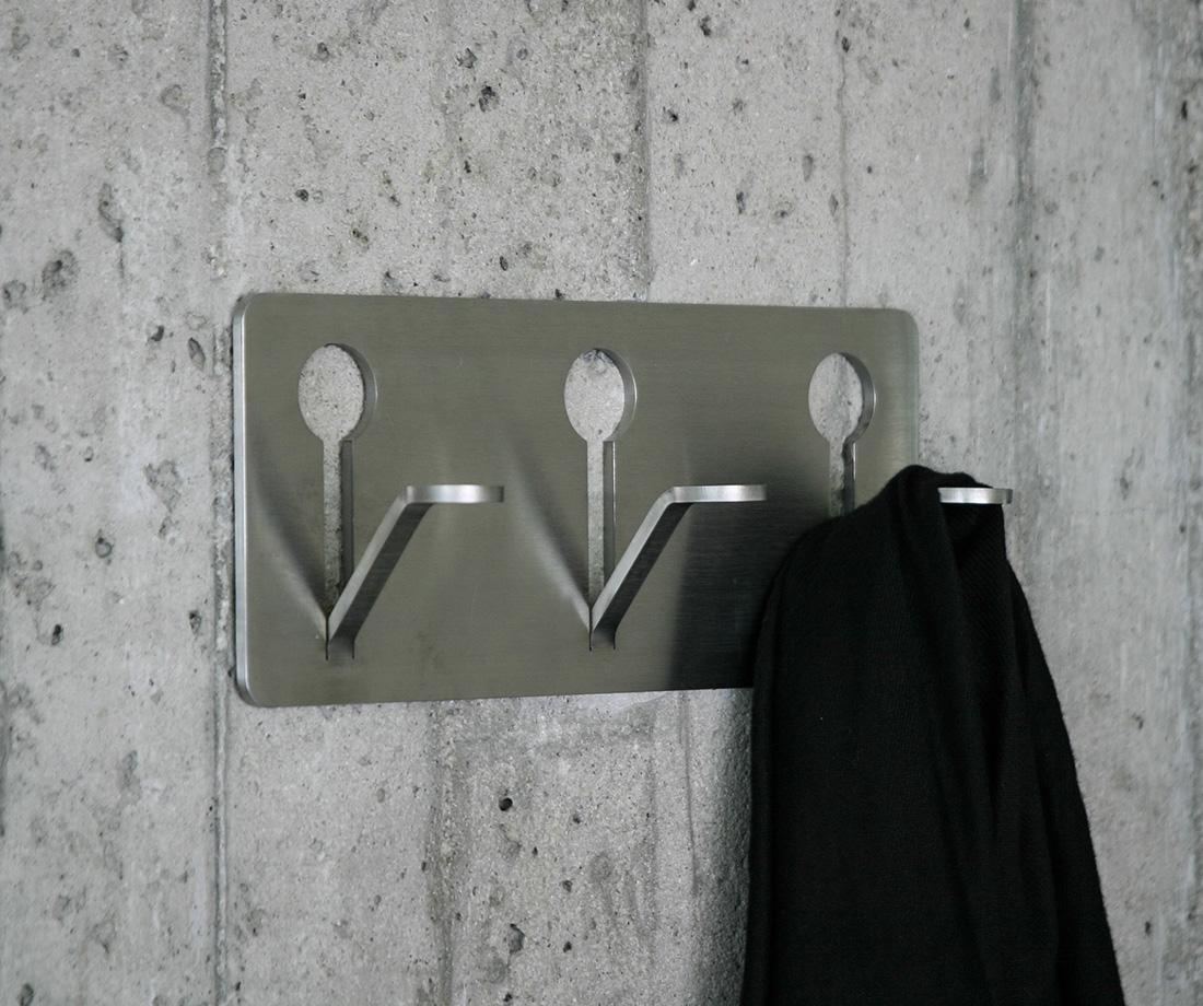 Stainless Steel Hidden Fastener Coat Hook